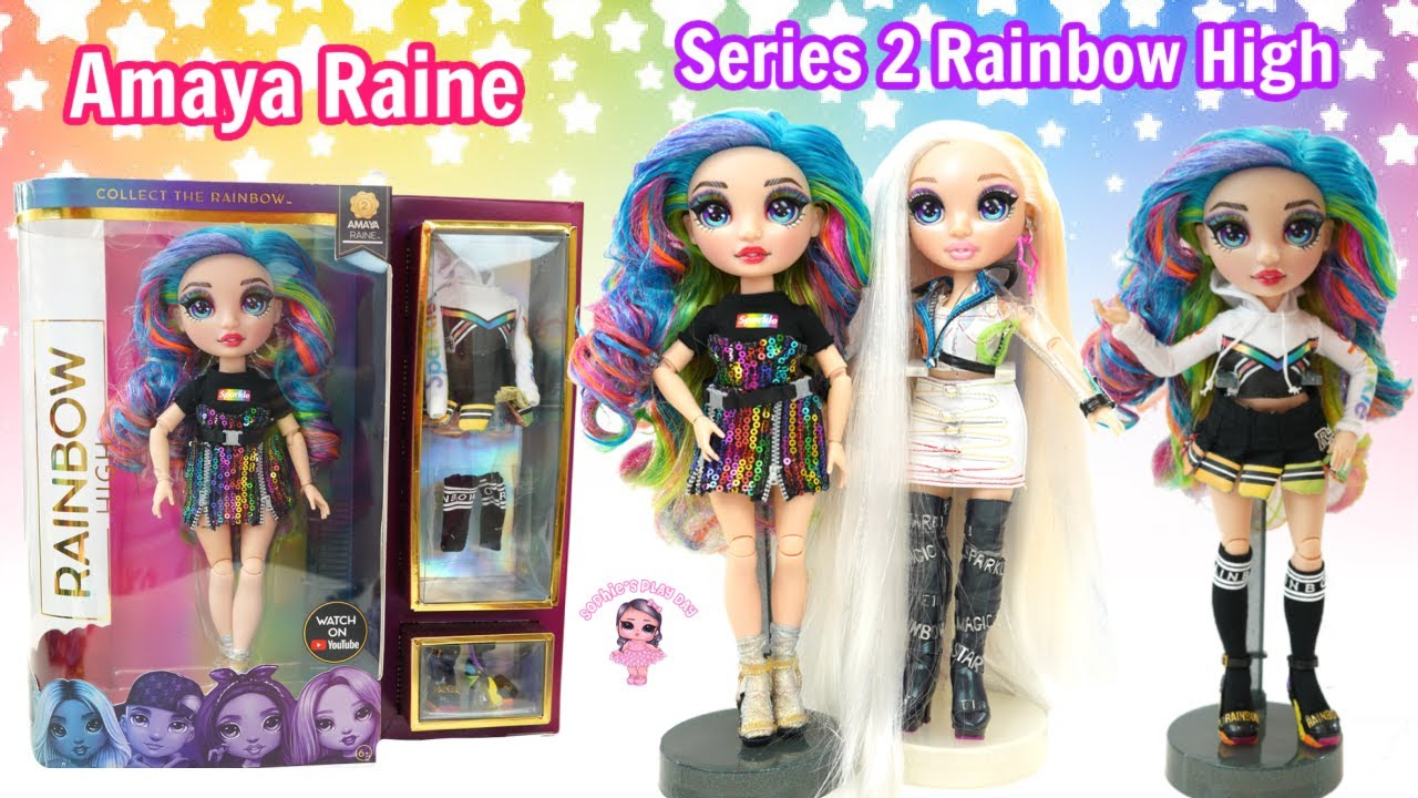 Rainbow High Series 2 Amaya Raine with cute Cheer Outfit New In Box New Release