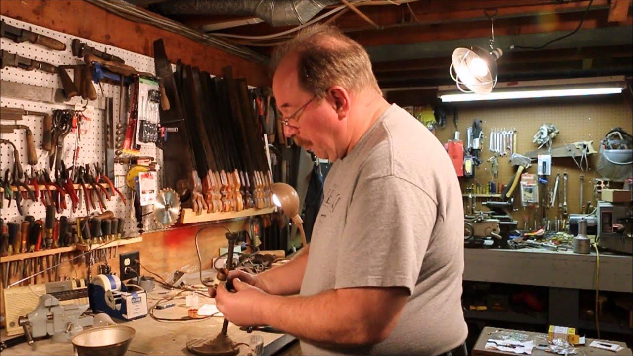 Eagle Desk Lamp Repair Replacing The Cord By Old Sneelock S Work