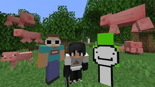 Minecraft, But Every Mob Looks Like A Pig...