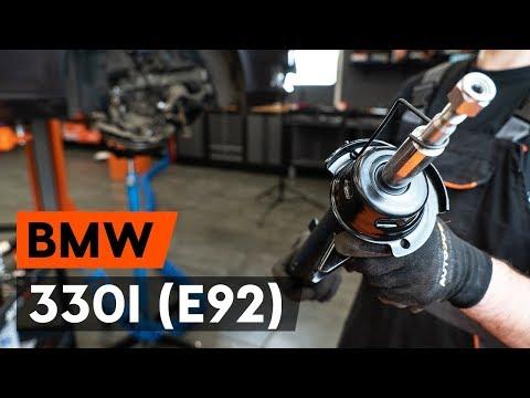 Как заменить переднюю стойку амортизатора наBMW 330i 3 (E92) [TUTORIAL AUTODOC]