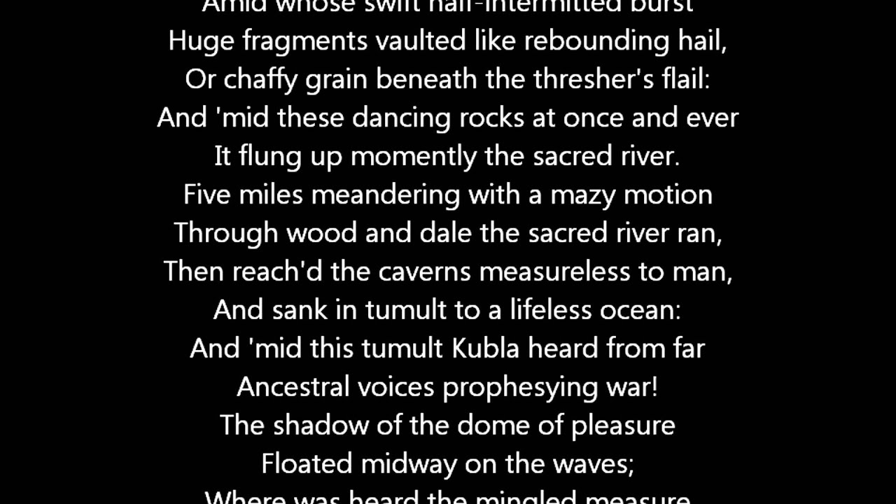 Kubla Khan by Samuel Taylor Coleridge, a Poem - YouTube