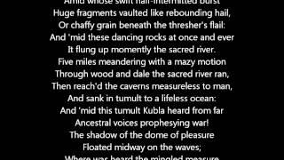Kubla Khan by Samuel Taylor Coleridge, a Poem