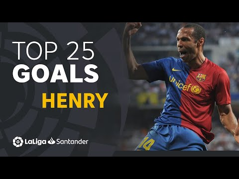 TOP 25 GOALS Thierry Henry in LaLiga Santander from YouTube · Duration:  16 minutes 10 seconds