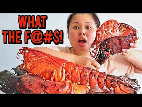 GIANT 15 POUND LOBSTER MUKBANG! 먹방 (EATING SHOW!)
