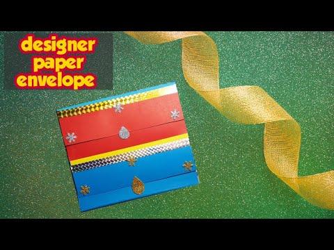 How to make a paper envelope || designer gift envelope || super easy diy envelope idea