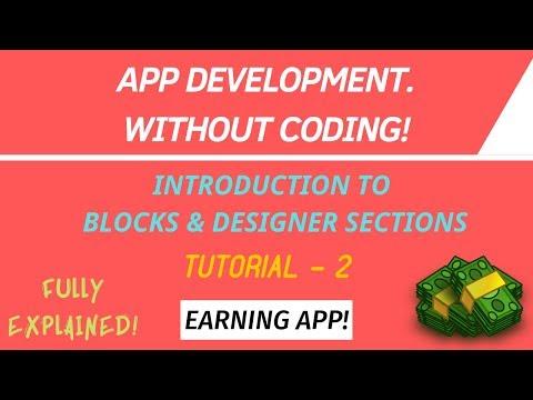 Thunkable Tutorial - 2 // Blocks & Designer Sections And Elements // APP DEVELOPMENT💪 thumbnail
