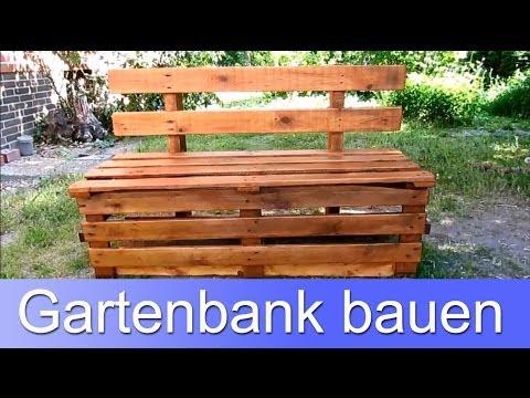 Gartenbank aus Paletten günstig selber bauen