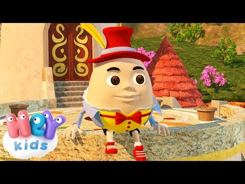 Humpty Dumpty Sat On A Wall song and many more Nursery Rhymes | HeyKids