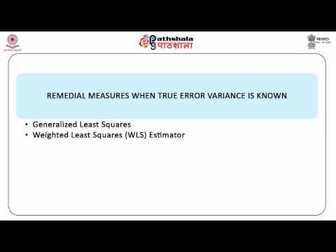 Heteroscedasticity : remedial measures (BSE)