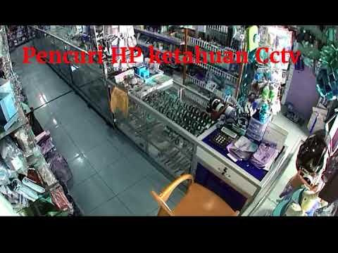 Pencuri HP ketahuan Cctv