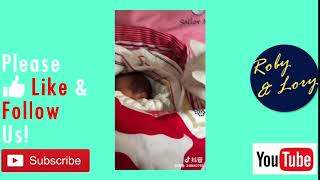 Cat Observing Its Baby Owner Cute Animal Andamp Child Video