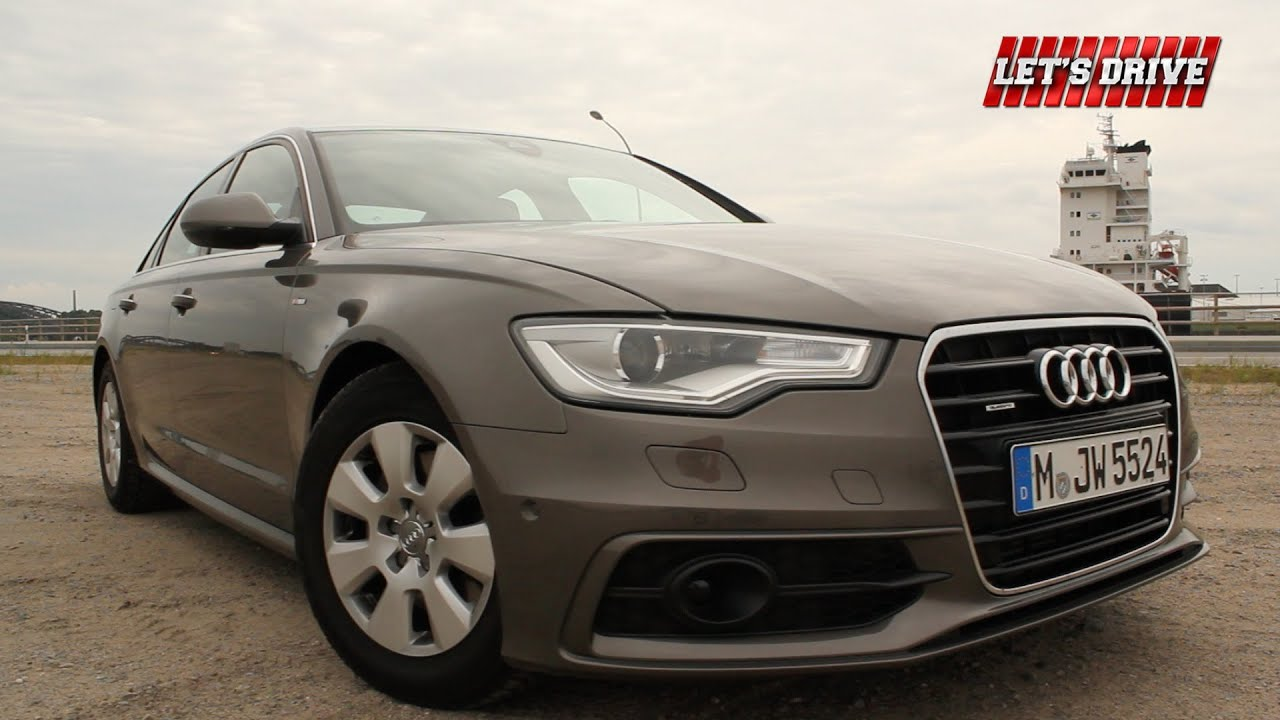audi a6 3 0 tdi 204ps 2014 im test fahrbericht on. Black Bedroom Furniture Sets. Home Design Ideas
