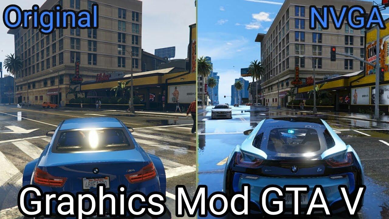 Gta V Original Vs M V G A Graphics Mod Comparison