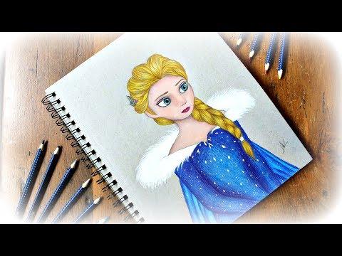 Drawing Elsa in Olaf's Frozen Adventure