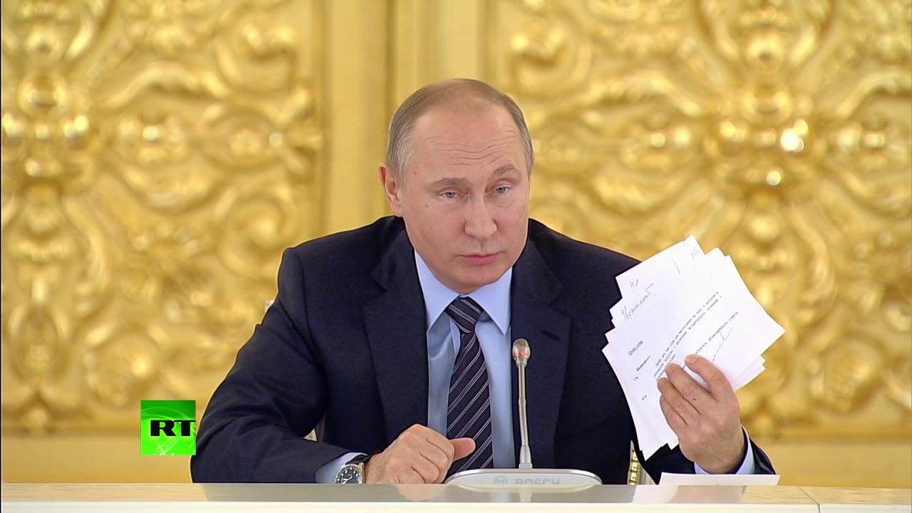 Путин прервал заседание Совета по культуре и искусству из-за телефонного звонка