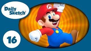 #16 Daily Sketch - Mario is Designer