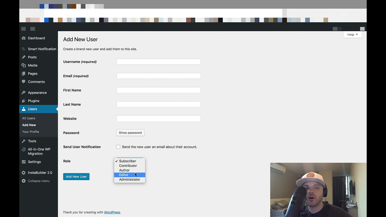 How To Add A New User To a WordPress Website