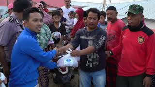 Humanity First Indonesia distribute meat to the needy