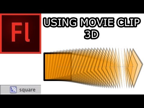Working with Movie Clips in Flash CS5: 002 3D