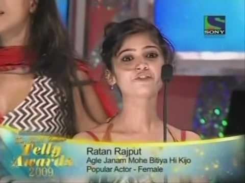Ratan Rajput Wins Best Actress Award At 9th Indian Telly Awards