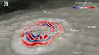 SHAKEMOVIE: propagazione onde sismiche Mw 5.5 Capitignano (AQ) ore 11:14