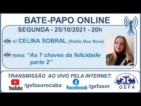 Assista: Bate-papo online - C/ CELINA SOBRAL (25/10/2021)