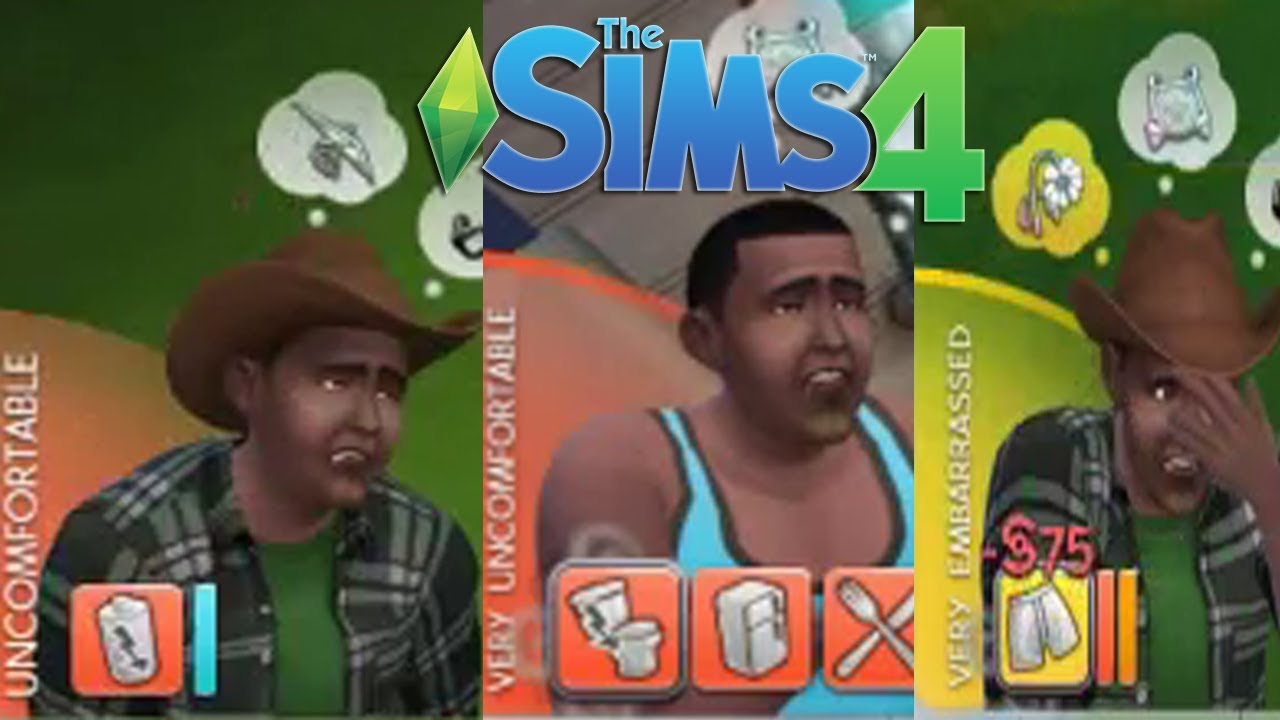 how to make a sim embarrassed in sims 4