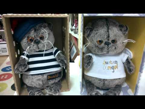 видео: мягкая игрушка Кот Басик baby видео обзор купить