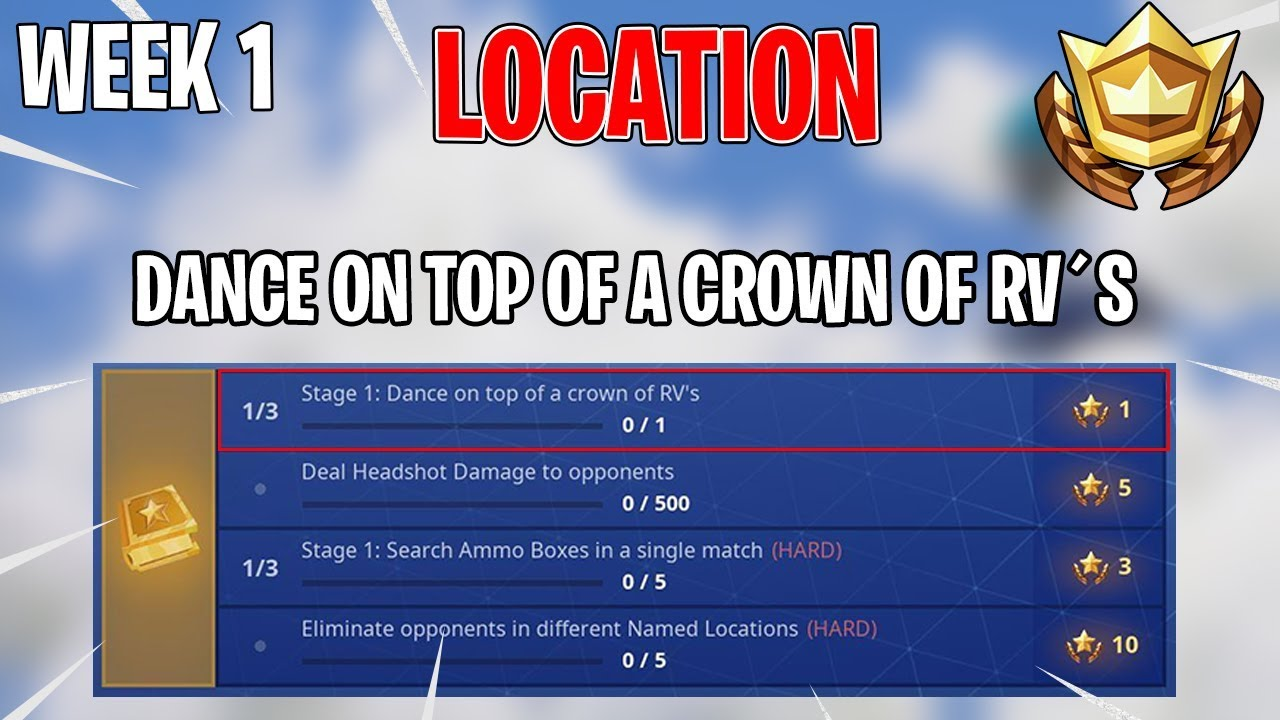 Dance On Top Of A Crown Of Rv S Week 1 Challenge Location Guide