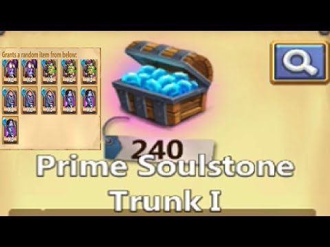 Opening 250 PRIME Soulstone For Creation01 + Skeletica Castle Clash