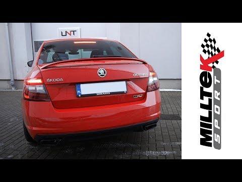 Skoda Octavia RS | Milltek Sport Cat-back Non-resonated | UNT Tuning Center