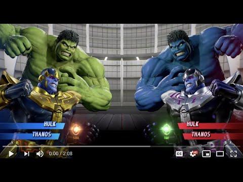 Hulk And Thanos Vs Hulk And Thanos - MARVEL VS. CAPCOM: INFINITE