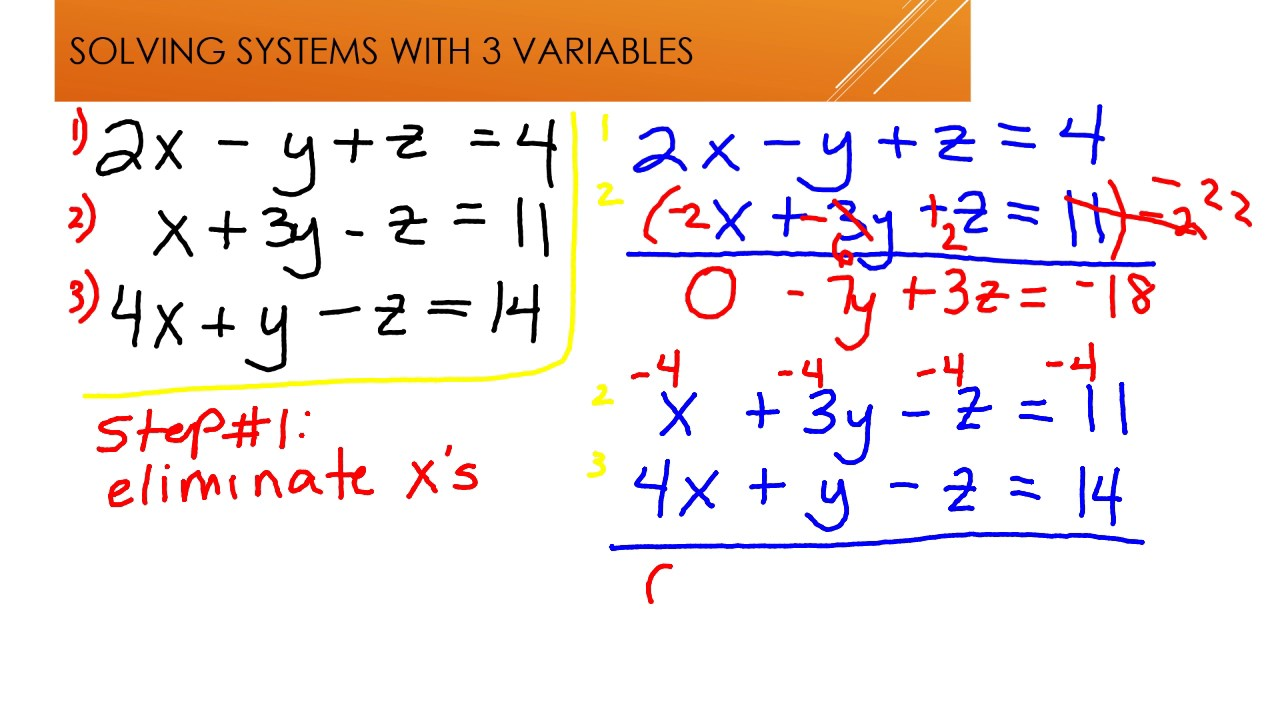 systems with three variables - 1280×720