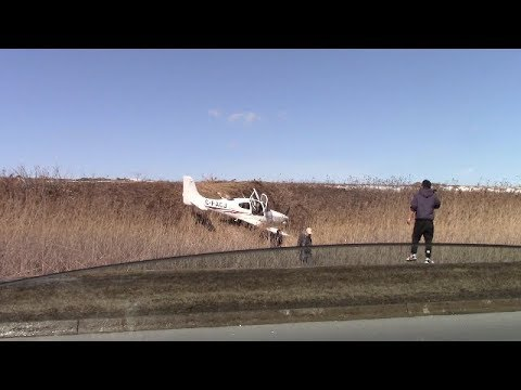 Driving pass small plane crash.  Buttonville Airport March 2019