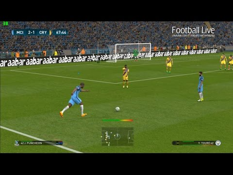 PES 2017 | Manchester City vs Crystal Palace | Free Kick Goal Yaya Toure & Full Match | Gameplay PC