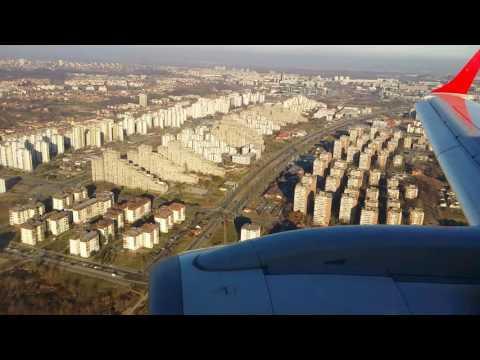 Austria Airlines - Landing at Belgrade