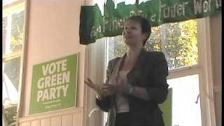 Caroline Lucas speak to Norwich Green Party Supporters