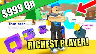 WOW IT'S THE RICHEST PLAYER YOU'VE EVER SEEN IN MAGNET SIMULATOR!! (Roblox)