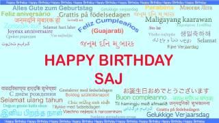 Saj   Languages Idiomas - Happy Birthday