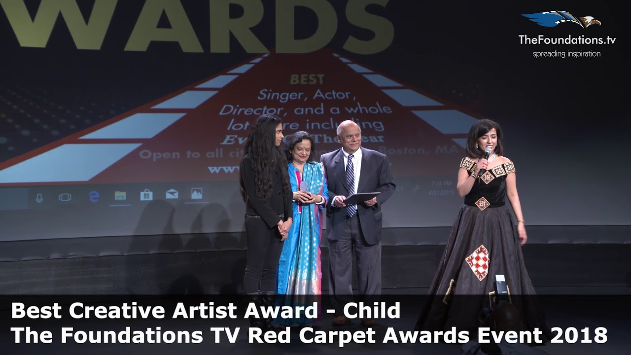 Meghana Basi wins The Foundations TV Best Creative Artist Child ...