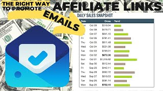 THE RIGHT Way to Promote Affiliate Links Using Email Marketing