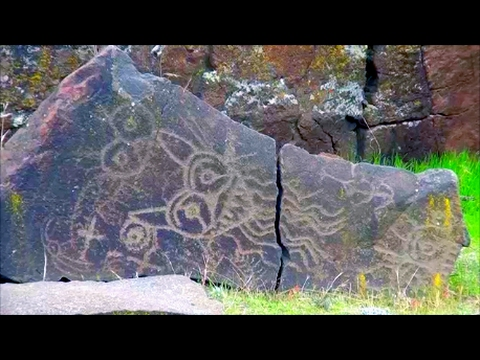 Exploring the Pacific Northwest: Washington State Native American Petroglyphs. Monster Depictions