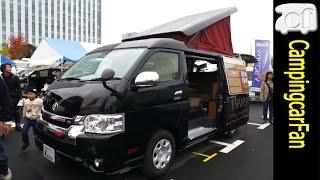 【オーロラスタークルーズ エヴァンス】ハイエースワイドロングボディにポップアップルーフを架装したバンコンキャンピングカー Japanese Campervan Campingcar