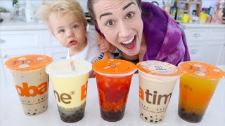 TESTING CRAZY BOBA FLAVORS WITH MY BABY!