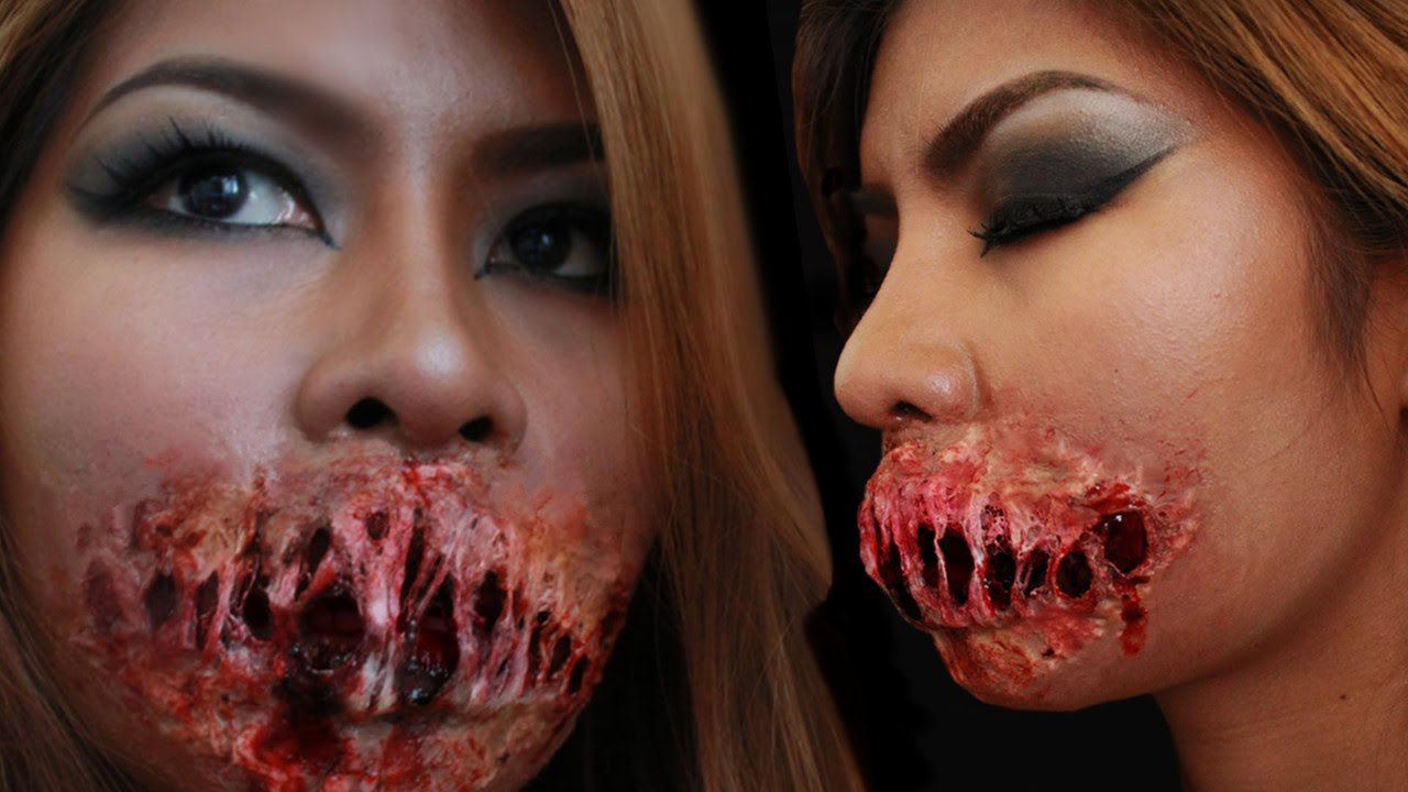 RIPPED Monster Mouth Tutorial. (Monster Mouth Make Up ...