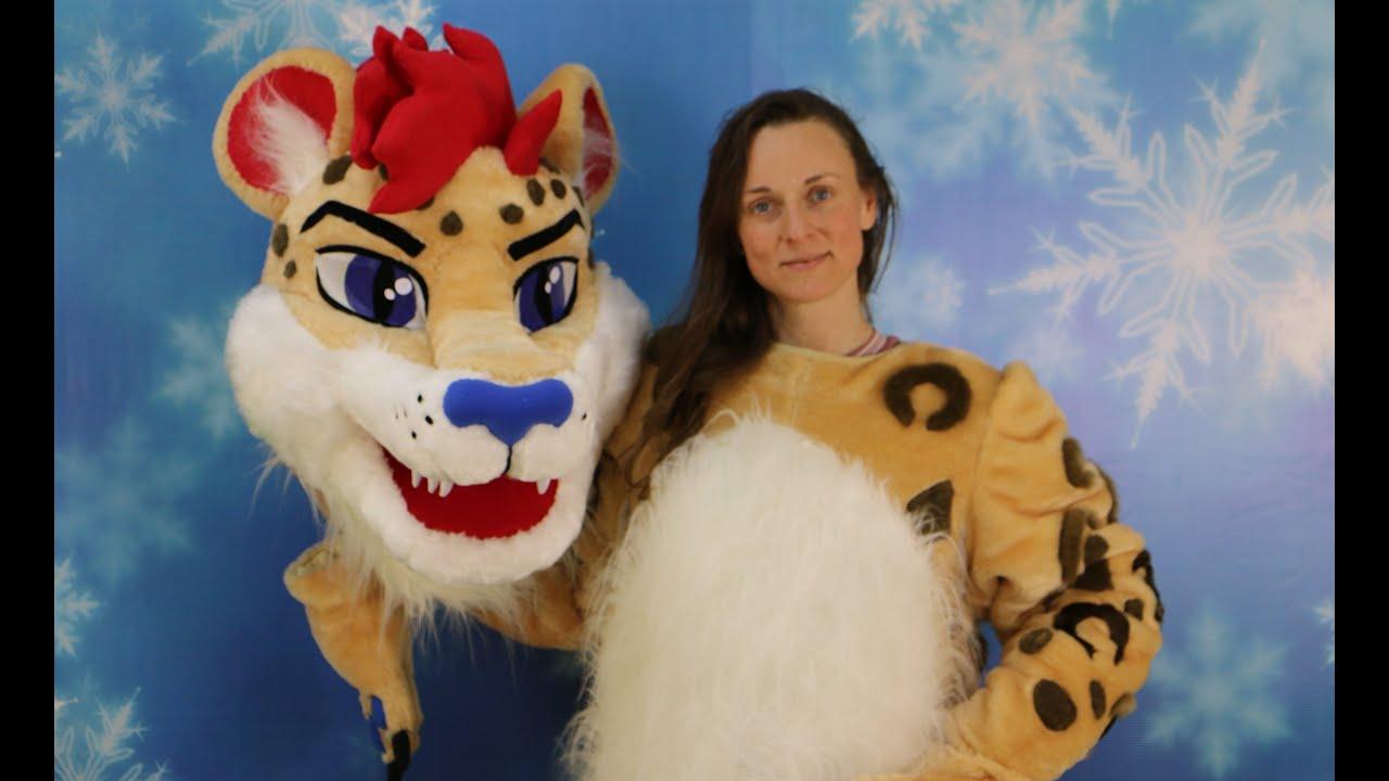 Leopard Mascot Costume / léopard - costume de mascotte sur mesure