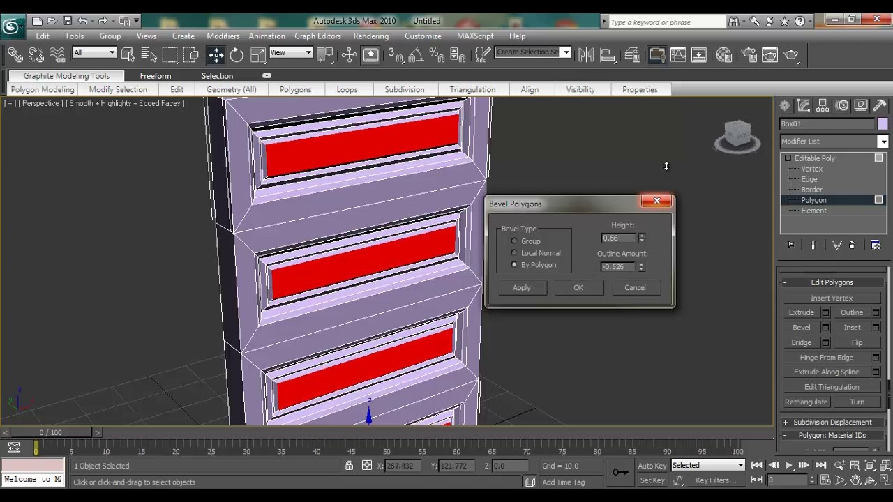 3ds Max Modeling Tutorial How To Model Architectural Interior And Exterior Door Using Editable