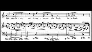 Zueignung Piano Accompaniment scrolling music Strauss High Voice C Maj