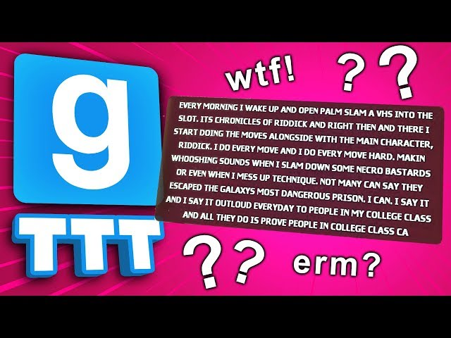 WHAT DO THESE MESSAGES MEAN!? | Gmod TTT