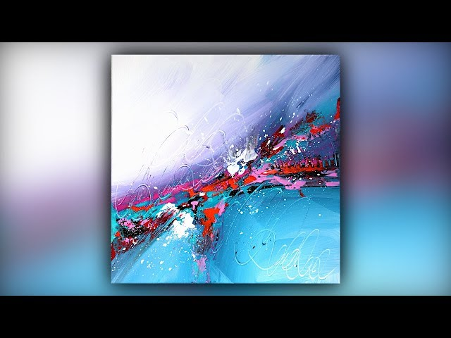 Abstract Acrylic Painting / Easy & Fun / Palette Knife Technique / Demo #070